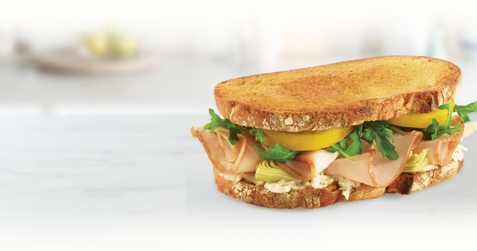 Artichoke-Asiago Turkey Sandwich