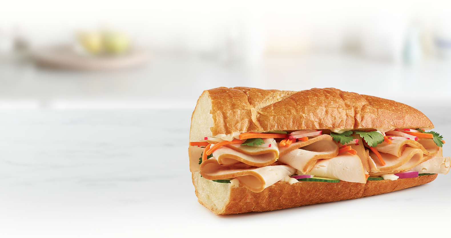 Chicken Banh Yum-Mi Sandwich