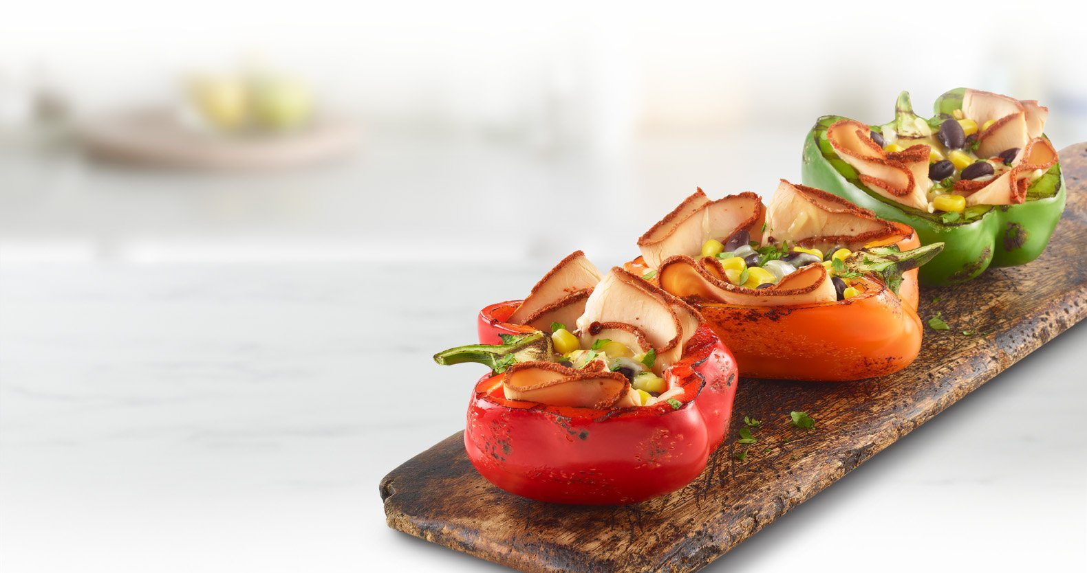 Chipotle Turkey Grilled Bell Peppers